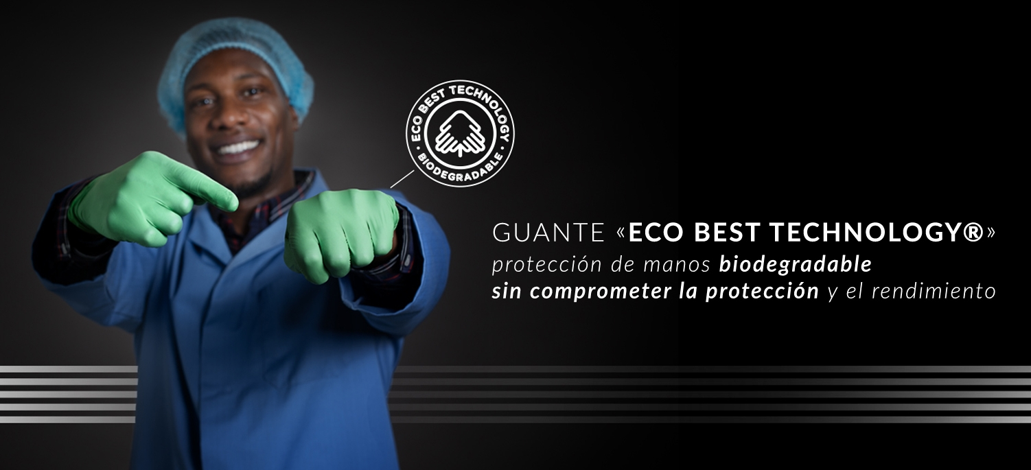 Guantes biodegradables showa